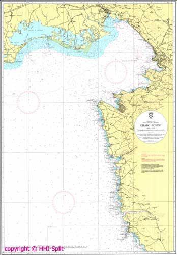Seekarte Kroatien 100-15
