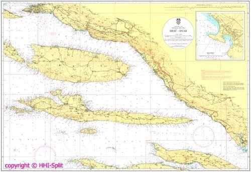 Seekarte Kroatien 100-26