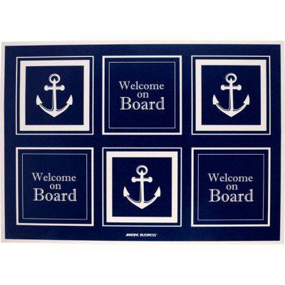 Fußmatte Welcome on Board Anker Style