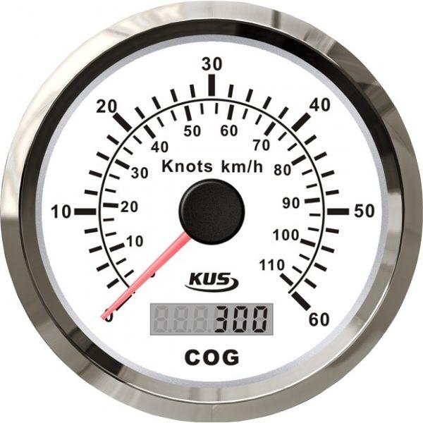 KUS GPS Speedometer analog bis 60 Knoten