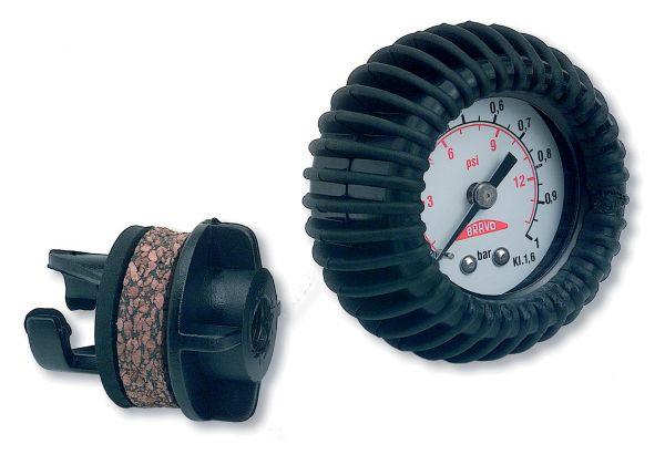 Bravo Manometer HP mit Halkey-Adapter