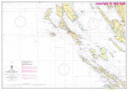Seekarte Kroatien 100-17