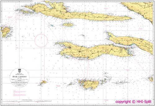 Seekarte Kroatien 100-25