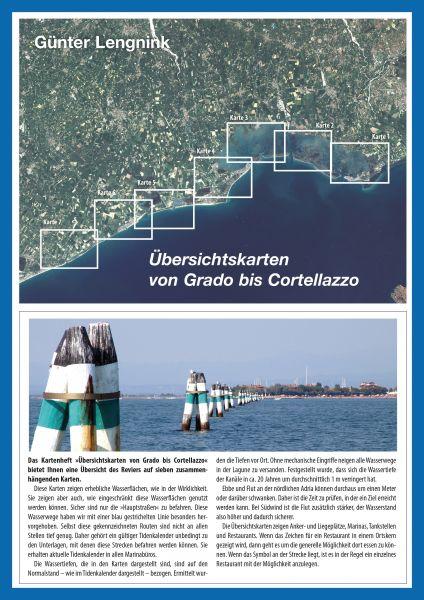 Übersichtskarten von Grado bis Cortellazzo