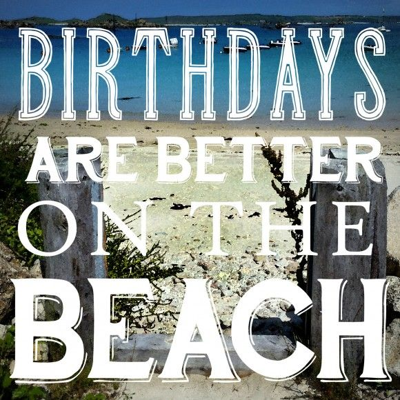 Glückwunschkarte Geburtstag Beach