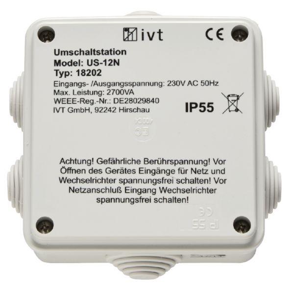 Umschalter 230V automatisch zwischen Wechselrichter und Landstrom