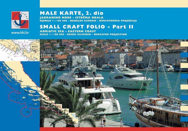 Kroatischer Sportboot Kartensatz - 2. Teil Süd