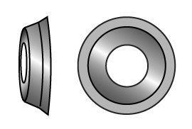Rosette gedreht für Senkkopfschraube