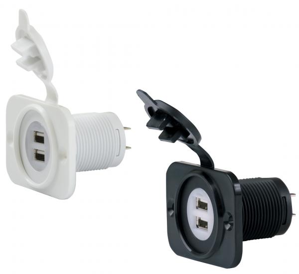 USB-Adapter 12-24V weiß oder schwarz