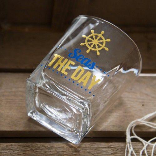 "Trinkglas ""Seas the Day"""