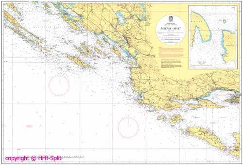 Seekarte Kroatien 100-21