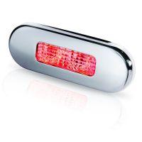 Hella LED-Stufenleuchte mit Niro-Abdeckring