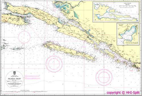 Seekarte Kroatien 100-27
