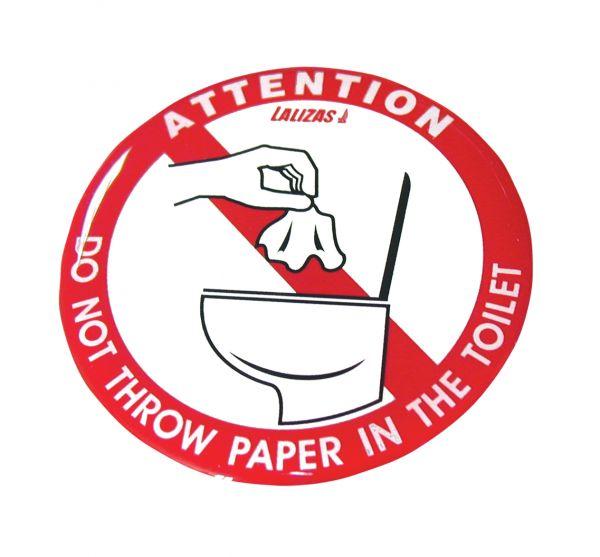 Verbotskleber Toilette