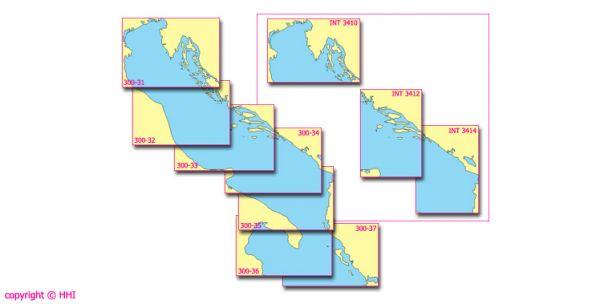 Seekarte Kroatien 300-31 bis 300-37