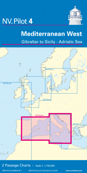 NV Passage Charts Mediterranean West