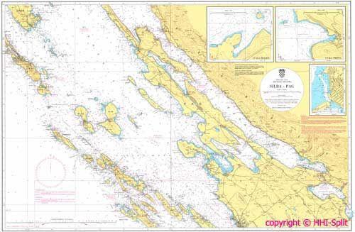 Seekarte Kroatien 100-19