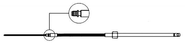 Uflex Lenkkabel M58 bis 55PS
