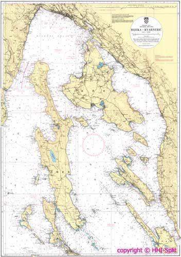 Seekarte Kroatien 100-18