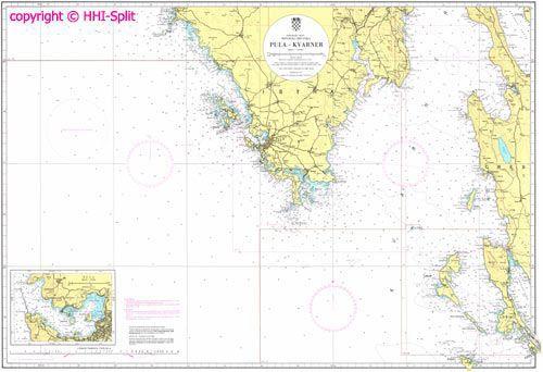 Seekarte Kroatien 100-16