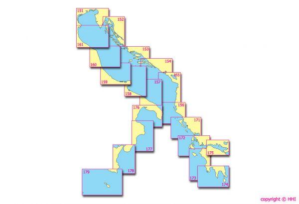 Seekarte Kroatien 151 bis 175