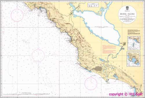 Seekarte Kroatien 100-29
