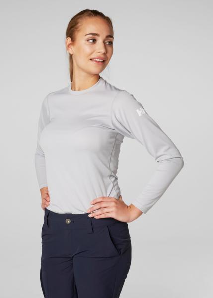 Helly Hansen Tech Crew Shirt Damen hellgrau