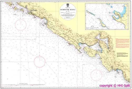 Seekarte Kroatien 100-28