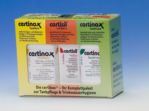 Certinox Komplettpaket zur Trinkwasserhygiene