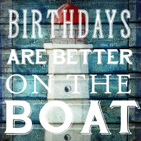 Glückwunschkarte Geburtstag Boat