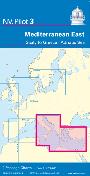 NV Passage Charts Mediterranean East