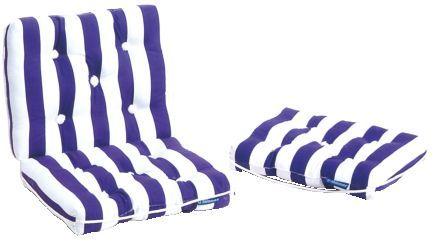 Kapok Kissen blau/weiß